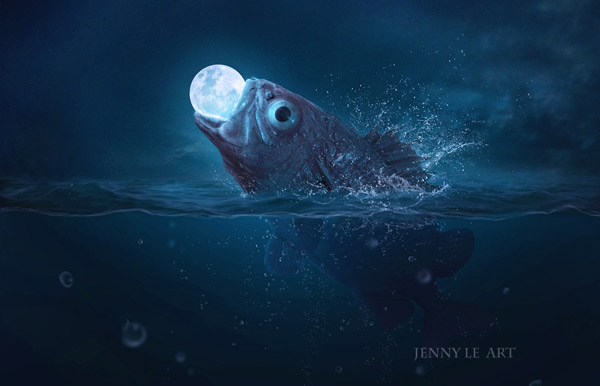 Fish Eats Moon by Jenny Le