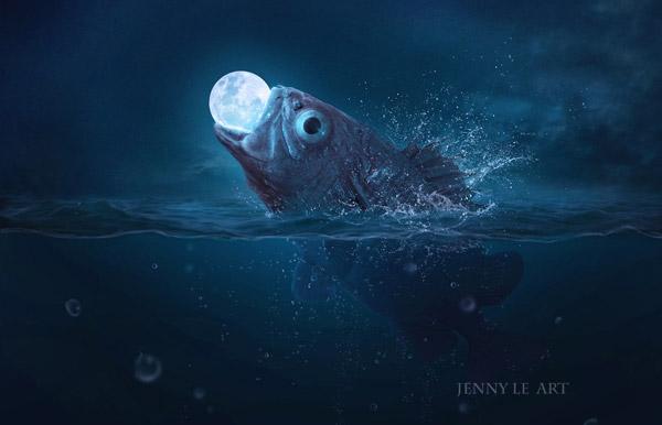 Fish Eats Moon by Jenny Le