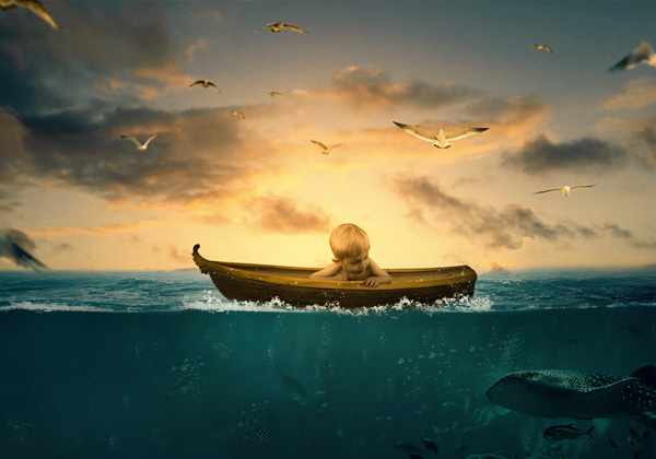 Surreal Underwater Photo Manipulation in Photoshop