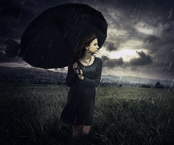 Create a Rainy Day Scene Photo Manipulation in Photoshop